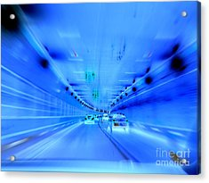 Tunnel Tension Acrylic Print by Ed Weidman