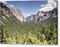 Tunnel View Yosemite Acrylic Print