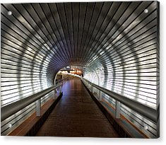 Tunneling In New Haven Acrylic Print