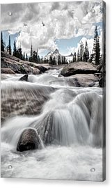 Tuolumne River And Unicorn Peak Acrylic Print