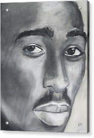 Tupac Acrylic Print by Aaron Balderas