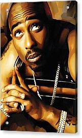 Tupac Shakur Artwork 4 Acrylic Print