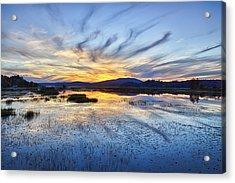 Tupper Lake Sunset Hdr 01 Acrylic Print
