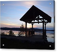 Tupper Lake Sunset Over Raquette Pond Acrylic Print by Maggy Marsh