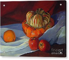 Turban Squash And Friends Acrylic Print