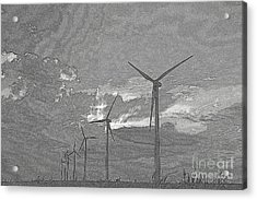 Acrylic Print featuring the photograph Turbines In Pencil by Jim McCain