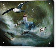 Turbulence At Irving Lighthouse Acrylic Print
