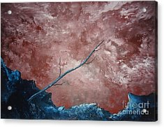 Acrylic Print featuring the painting Turbulent Stick by Stuart Engel