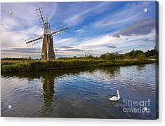 Turf Fen Drainage Mill Acrylic Print by Louise Heusinkveld