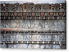Turkey, Ephesus Ruin Of Roman Acrylic Print by Jaynes Gallery