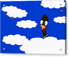 Turkeys In Flight Acrylic Print