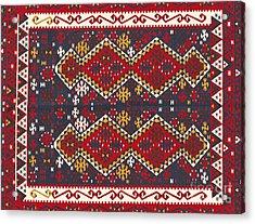 Turkish Carpet Acrylic Print by Emirali  KOKAL