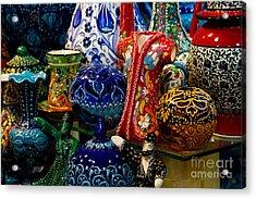 Turkish Ceramic Pottery 2 Acrylic Print by David Smith