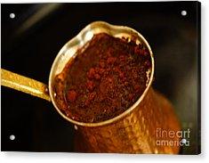 Turkish Coffee Acrylic Print by Nur Roy