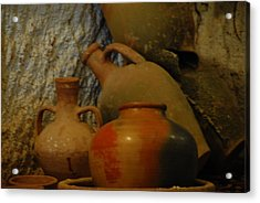 Turkish Pottery Acrylic Print by Jacqueline M Lewis