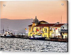 Turkish Water Police Station Acrylic Print by Mark Alexander