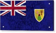 Turks And Caicos Islands Flag Acrylic Print