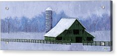 Turner Barn In Brentwood Acrylic Print by Janet King