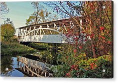 Acrylic Print featuring the photograph Turner's Covered Bridge by Suzanne Stout