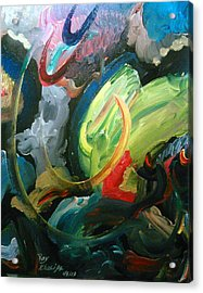 Acrylic Print featuring the painting Turning Point by Ray Khalife