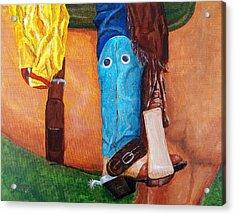 Turquiose Boot Acrylic Print