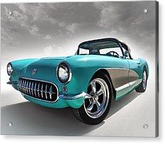 Turquoise '57 Acrylic Print by Douglas Pittman