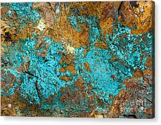 Acrylic Print featuring the photograph Turquoise Abstract by Chris Scroggins