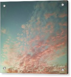Turquoise And Peach Skies Acrylic Print by Holly Martin