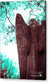 Turquoise Angel Acrylic Print by Sonja Quintero