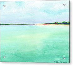 Turquoise Caribbean Beach Horizontal Acrylic Print