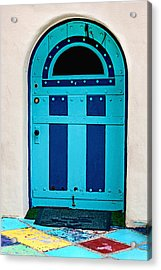 Turquoise Door Acrylic Print by Art Block Collections