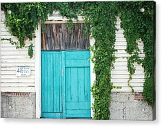 Turquoise Door Acrylic Print by Pamela Schreckengost