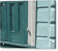 Acrylic Print featuring the photograph Turquoise Door by Valerie Reeves
