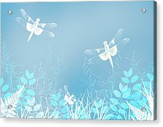 Turquoise Dragonfly Art Acrylic Print by Christina Rollo