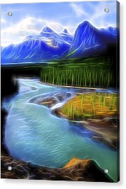 Acrylic Print featuring the digital art Turquoise Light 1 by William Horden