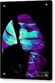 Turquoise Love Acrylic Print