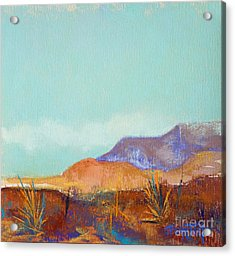Turquoise Mountains Acrylic Print by Tracy L Teeter