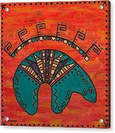 Turquoise Oso Bear Fetish Acrylic Print