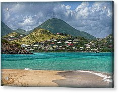 Turquoise Paradise Acrylic Print by Hanny Heim