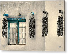 Turquoise Pueblo Traces Acrylic Print by Stellina Giannitsi