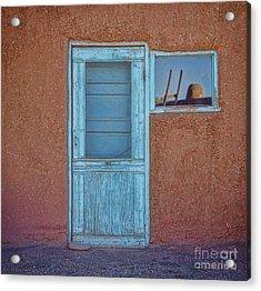 Turquoise Reflection Acrylic Print