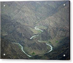 Turquoise River Deep In The Hindu Kush Mountains Acrylic Print by Jetson Nguyen