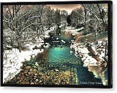 Acrylic Print featuring the photograph Turquoise River  by Michaela Preston