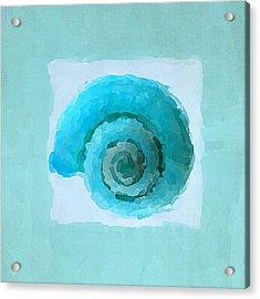 Turquoise Seashells IIi Acrylic Print by Lourry Legarde