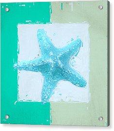 Turquoise Seashells Xiii Acrylic Print