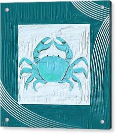 Turquoise Seashells Xix Acrylic Print by Lourry Legarde