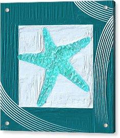 Turquoise Seashells Xvi Acrylic Print by Lourry Legarde