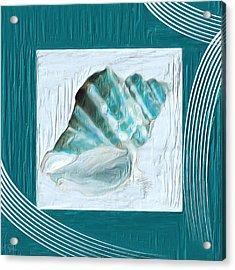 Turquoise Seashells Xxii Acrylic Print by Lourry Legarde