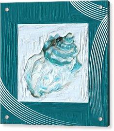 Turquoise Seashells Xxiv Acrylic Print by Lourry Legarde