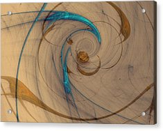 Turquoise Spiral Acrylic Print by David Jenkins